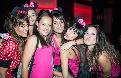 Chicas en la despedida de soltera de una amiga que se celebró en Logroño