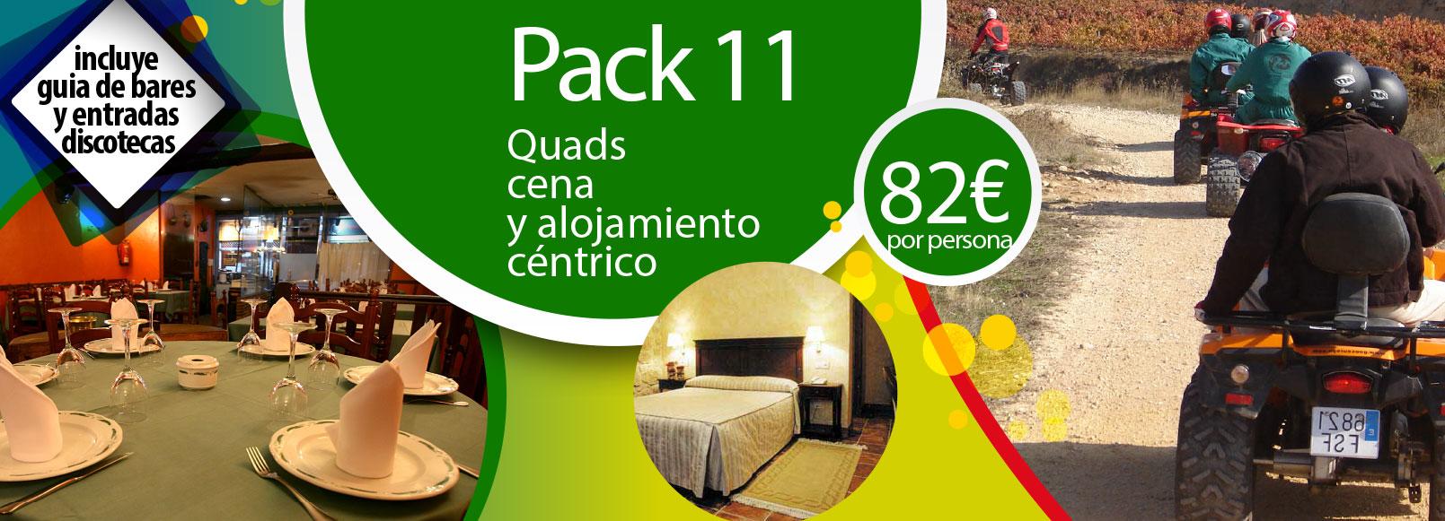 Pack 11: Quads, cena y alojamiento