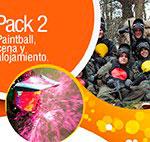 pack 2: partida de paintball, cena y alojamiento