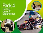 pack 4: karting, cena y alojamiento en la ciudad