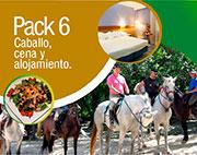 pack 6: caballo, cena y alojamiento