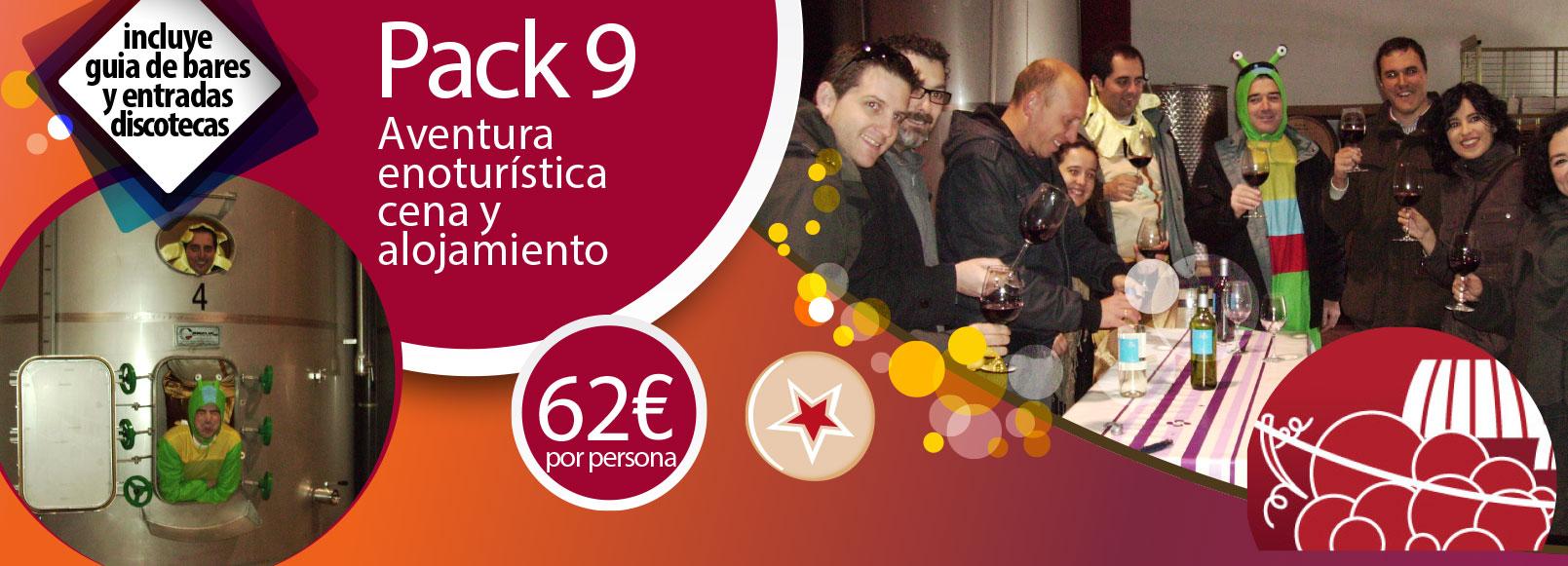Pack 9: Aventura enoturistica, cena y alojamiento