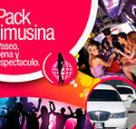 Pack limusina: paseo, cena y espectaculo